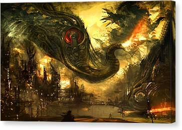 Destruction Canvas Print - Elephas Maximus by Alex Ruiz
