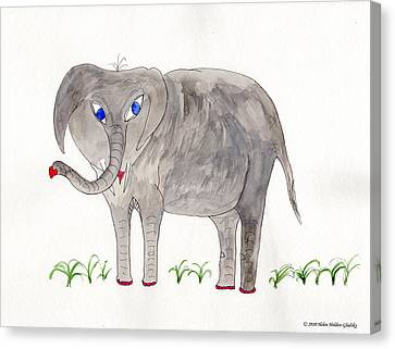 Elephoot And Friends Canvas Print