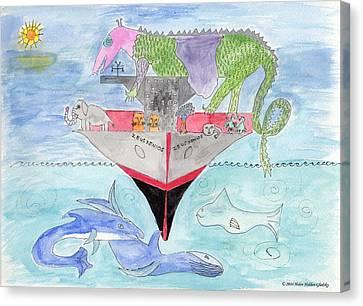 Elephoot On Tanker Ship Canvas Print