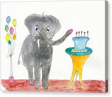 Elephoot's Birthday Greeting Canvas Print