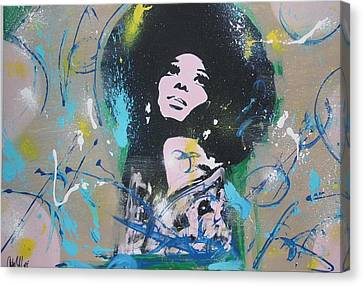 Diana Ross Canvas Print - Eletric Ross by Antonio Moore
