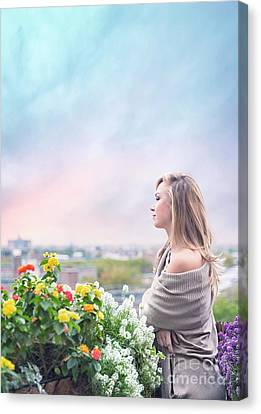 Blonde Canvas Print - Elevate Your Senses by Evelina Kremsdorf