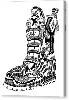 Elevated Soles No.2 Canvas Print by Kenal Louis