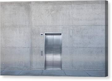 Elevator Into Building Canvas Print by Dave & Les Jacobs