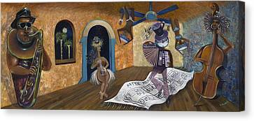 Eleven Minutes After Midnight Canvas Print by Claudia Goodell