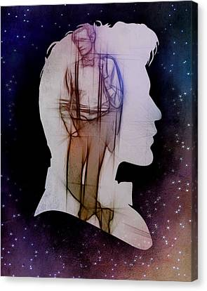 Doctor Who Inspired Eleventh Doctor Silhouette  Canvas Print by Alondra Hanley