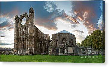 Elgin Cathedral Canvas Print by Jane Rix