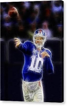 Eli Manning Canvas Print by Paul Ward