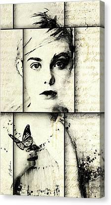 Eliannah Con Mariposa Canvas Print by Gary Bodnar