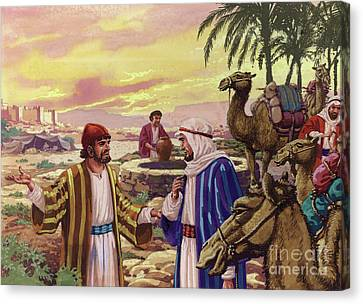 Eliezer Arriving At The Well  Canvas Print