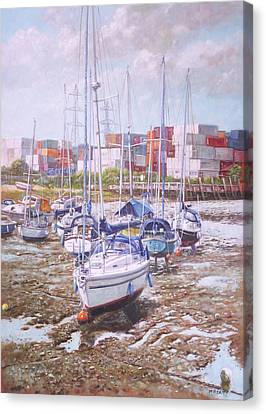 Canvas Print - Eling Yacht Southampton Containers by Martin Davey