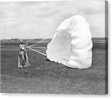 Elinor Smith Parachutes Canvas Print