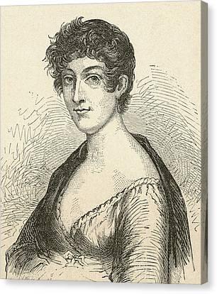Elisabeth Charlotte Pauline De Meulan Canvas Print