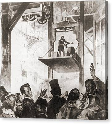 Elisha Graves Otis 1811-1861 Canvas Print by Everett