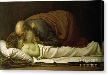 Bible Canvas Print - Elisha Raising The Son Of The Shunamite by Frederic Leighton