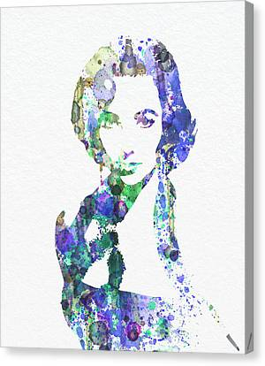 1960 Movies Canvas Print - Elithabeth Taylor by Naxart Studio