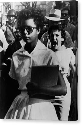 1950s Portraits Canvas Print - Elizabeth Eckford, One Of The Nine by Everett