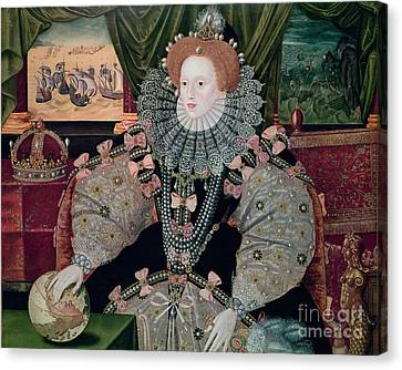 Elizabeth I Armada Portrait Canvas Print by George Gower