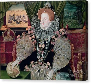 Elizabeth I Armada Portrait Canvas Print by George Gower