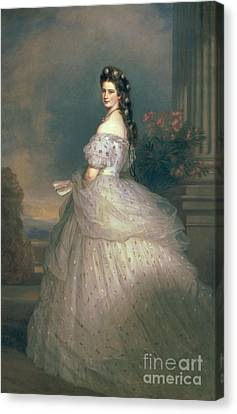 Elizabeth Of Bavaria Canvas Print by Franz Xavier Winterhalter