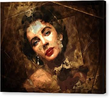 Elizabeth Rosemond Taylor - Memories - Oncore Canvas Print