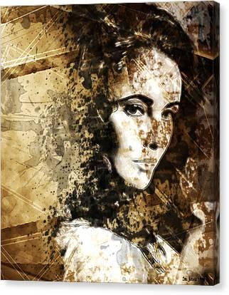 Elizabeth Rosemond Taylor - Memories Canvas Print