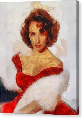 Elizabeth Taylor Actress Canvas Print by Esoterica Art Agency