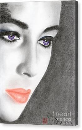 Elizabeth Taylor Canvas Print by Eliza Lo