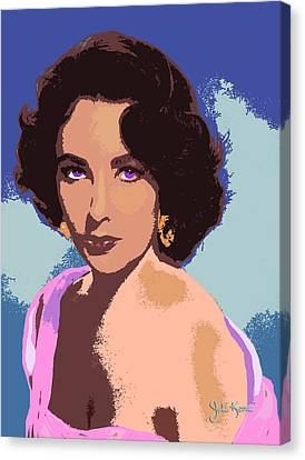 Canvas Print featuring the painting Elizabeth Taylor by John Keaton