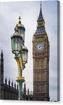 Elizabeth Tower Viewed From Westminster Bridge Canvas Print by AMB Fine Art Photography