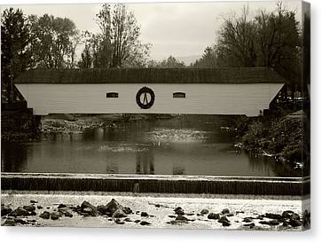 Elizabethton Covered Bridge Canvas Print by Jeff Severson