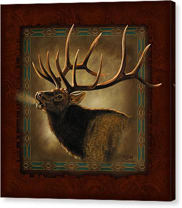 Elk Lodge Canvas Print by JQ Licensing