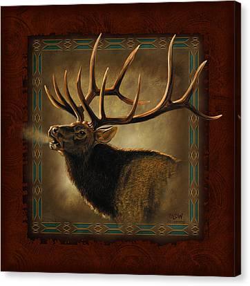 Elk Lodge Canvas Print by JQ Licensing