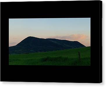 Canvas Print featuring the photograph Elk Mountain Meadow Sunset by Daniel Hebard