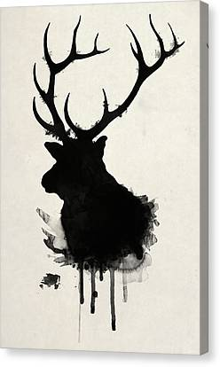 Hunting Canvas Print - Elk by Nicklas Gustafsson