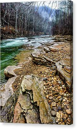 Canvas Print featuring the photograph Elk River In The Rain by Thomas R Fletcher