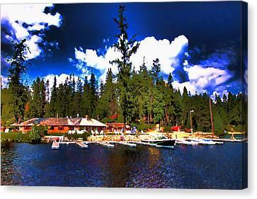 Elkins Resort Canvas Print by David Patterson