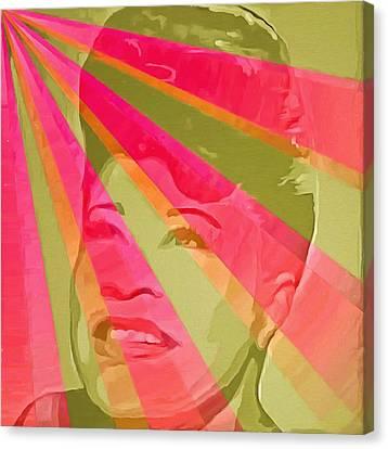 Ella Fitzgerald Pop Art Canvas Print by Dan Sproul