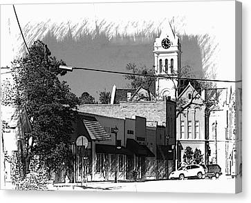 Canvas Print featuring the photograph Ellaville, Ga - 3 by Jerry Battle