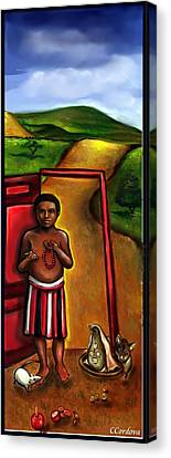 Elegua -guardian Of Crossroads Canvas Print by Carmen Cordova