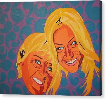 Ellen And Portia Canvas Print