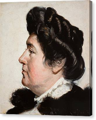 Ellen Gulbranson Canvas Print by Michael Ancher
