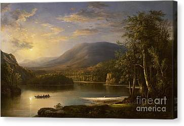 Setting Canvas Print - Ellen's Isle - Loch Katrine by Robert Scott Duncanson