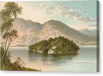 Ellen's Isle   Loch Katrine Canvas Print by English School