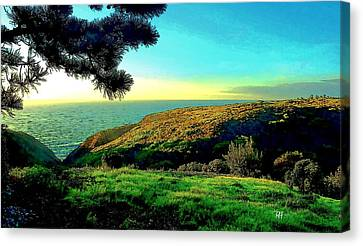 La Jolla Art Canvas Print - Ellentown - La Jolla by Russ Harris
