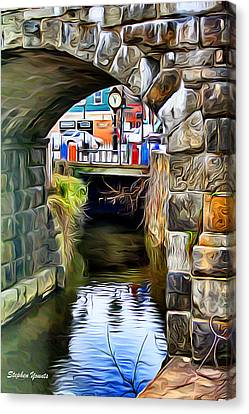 Ellicott City Bridge Arch Canvas Print by Stephen Younts