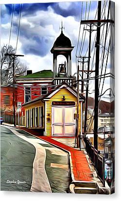 Ellicott City Fire Museum Canvas Print by Stephen Younts