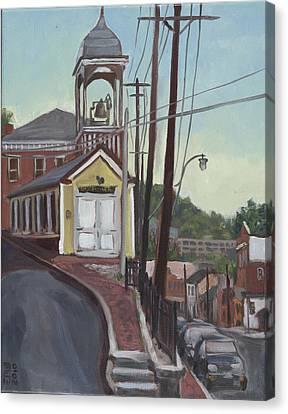 Ellicott City Firehouse Canvas Print by Edward Williams