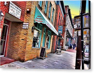 Ellicott City Shops Canvas Print by Stephen Younts