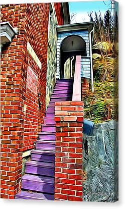 Ellicott City Steps Canvas Print by Stephen Younts